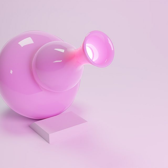 Pink, Vase, Bubblegum, Blender, 3D Design